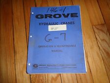 Grove Hydraulic Cranes Operation and Maintenance Manual
