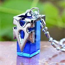 Anime Sword Art Online SAO Kirito Asuna Yuki Blue Metastasis Crystal Necklace