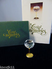 NEW Swarovski Crystal Memories Mini WINE GOBLET Water Glass Figurine w/ Box 1996