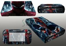 Amazing Spider Skin Sticker Cover Decal for Wii U Console & Controller