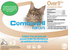 Combiva for Cats Over 9 lbs, Spot on Flea Treatment Advantage II Generic, 3 pack