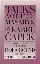 Talks with T. G. Masaryk by Karel Capek (1995, Paperback)