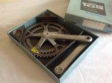 SHIMANO 105 DOUBLE BIOPACE CHAINSET - 170mm 7/8 SPEED 52/42 WITH ORIGINAL BOX