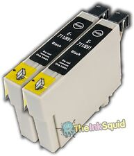 2 Black T0891 Monkey Ink Cartridges (non-oem) fits Epson Stylus B40W BX300F