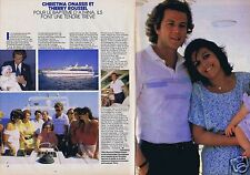 Coupure de presse Clipping 1985 Christina Onassis & Thierry Roussel  (2 pages)
