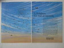 9/1989 PUB LOCKHEED GENERAL DYNAMICS BOEING TEAM ONE FIGHTER USAF F-16 F-117 AD