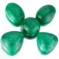206 Cts/5 Pcs Big Natural Emerald Supreme Green Cabochon Gemstones ~ 21mm-27mm