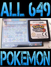 GENUINE POKEMON WHITE 2 WITH ALL 649 SHINY UNLOCKED ALL ITEMS NINTENDO DS BLACK