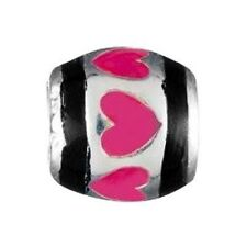 Authentic Chamilia Element Charm Sterling Silber 'Pink Row of Hearts' Bead NA-7F