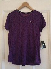 Ladies Nike Running Top Dri Fit Size Medium
