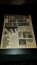 David Allan Coe Cheap Thrills Rare Original Promo Poster Ad Framed!