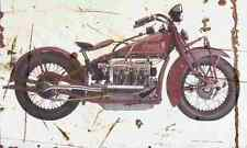 Indian Four 1932 Aged Vintage Photo Print A4 Retro poster