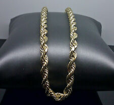 "10K Men's Yellow Gold Rope Chain 6mm, 30"" Long A14B6 #Cuben, Franco, Link"