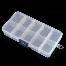 Perfect Jewelry Empty Storage Case Box 10 Cells for Pill Nail Art Tips Gems Drug
