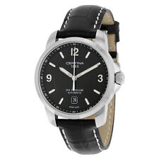 Certina DS Podium Automatic Black Dial Genuine Black Leather Mens Watch