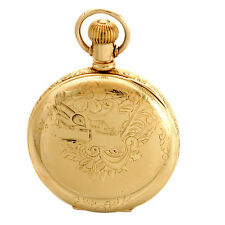 11-Jewel Yellow Gold Filled Case with Bird Ladies Waltham Pocket Watch CA1892
