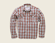 Howler Brothers GAUCHO SnapShirt ~ Roundup Plaid Red NEW ~Closeout Small