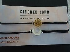 Alex and Ani SUN And MOON Set Of 2 Kindred Cord Pull Bracelets New W/ Box