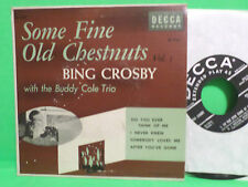 1954 DECCA 45 RPM EP BING CROSBY SOME FINE OLD CHESTNUTS  VOL.1 VINYL RECORD