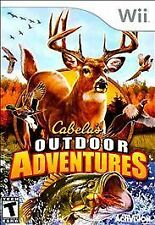 CABELA'S OUTDOOR ADVENTURES WII GAME AND MANUEL GREAT CONDITION
