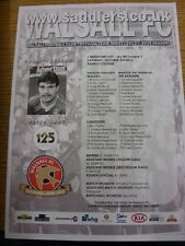 05/10/2013 Colour Teamsheet: Walsall v Bradford City  (Folded). Thanks for viewi