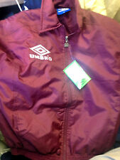 UMBRO  BOMBER JACKET IN X/S OR SMALL AT £15 MAROON