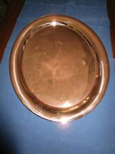 Antique Large Oval Heavy Copper Serving Tray RolledEdge Jos Heinrich NYParis1915