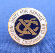 Vintage National Exchange Club Lapel Pin Unity for Service