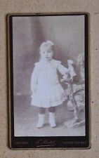CDV Photo. Portrait Young Child & Doll. F. Postel. Louviers France (ref 24970)