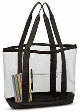 Clear Work Tote Shoulder Summer Beach Bag Purse Security Transparent See Through