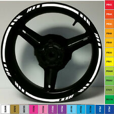 BLACK MOTORCYCLE REFLECTIVE RIM STRIPE WHEEL DECAL TAPE