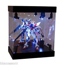 MB Acrylic Display Case LED Light Box for Bandai GUNDAM Zaku 1/144 Model Figure