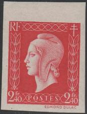 """FRANCE STAMP TIMBRE N° 693 a """" MARIANNE DE DULAC 2F40 ROUGE ND"""" NEUF xx TTB J852"""