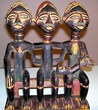 African Ashanti Ghana Mother & Child Fertility Comb - Hand Carved Wood