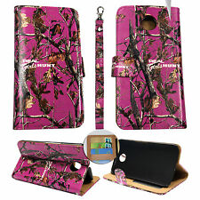 Wallet Camo Pink RGHT For Motorola Nexus 6 Flip ID Leather Case Cover