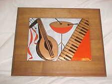 1950S ROBERT WUERSCH MODERN MIDCENTURY ENAMEL COPPER ART PLAQUE PAINTING JAZZ NR