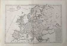 EUROPA, EUROPE . Original map.Bonne, 1787