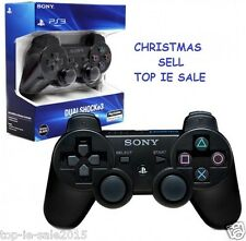 BLACK DUALSHOCK 3 SONY PS3 PLAYSTATION CONTROLLER BLUETOOTH WIRELESS