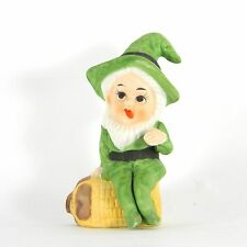 Vintage 1982 Treasure Master Gnome Leprechaun Figurine Porcelain Ceramic