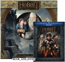 THE HOBBIT 3 (2014) BILBO GANDALF STATUE EXTENDED BATTLE OF FIVE ARMIES BLU-RAY