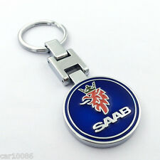 High Quality Car Logo Key Chain Ring Metal Alloy Double Sided Keyring for SAAB