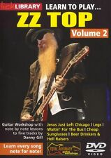 LICK LIBRARY Learn to Play ZZ TOP Rock Lesson TUTOR Electric GUITAR DVD Vol 2