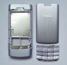Silver housing fascia facia cover case faceplate for nokia x3-02 x3 02 silver