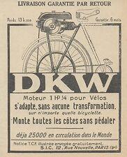 Z9821 DKW Moteur pour Vélos -  Pubblicità d'epoca - 1923 Old advert
