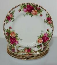 Royal Albert England Old Country Roses Bread Butter Plates 1962 Set of 4 Minty