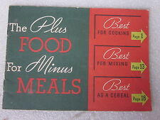 vintage Kellogg's Best for Cooking Mixing Cereal recipe booklet Battle Creek MI