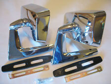 FORD METEOR FALCON RANCHERO 57-79 PAIR CHROME DOOR MIRROR pair right and left