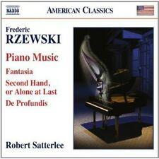 Piano Music: Fantasia / Second Hand Alone At Last - Rzewski / Sat (2014, CD NEU)