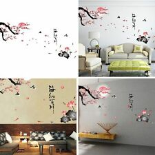 Pink Sakura Flower Cherry Blossom Tree Removable Wall Sticker Room Mural Decals