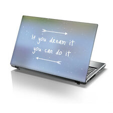"TaylorHe 15.6"" Laptop Vinyl Skin Sticker Decal Dream It, Do It Quote 2141"
